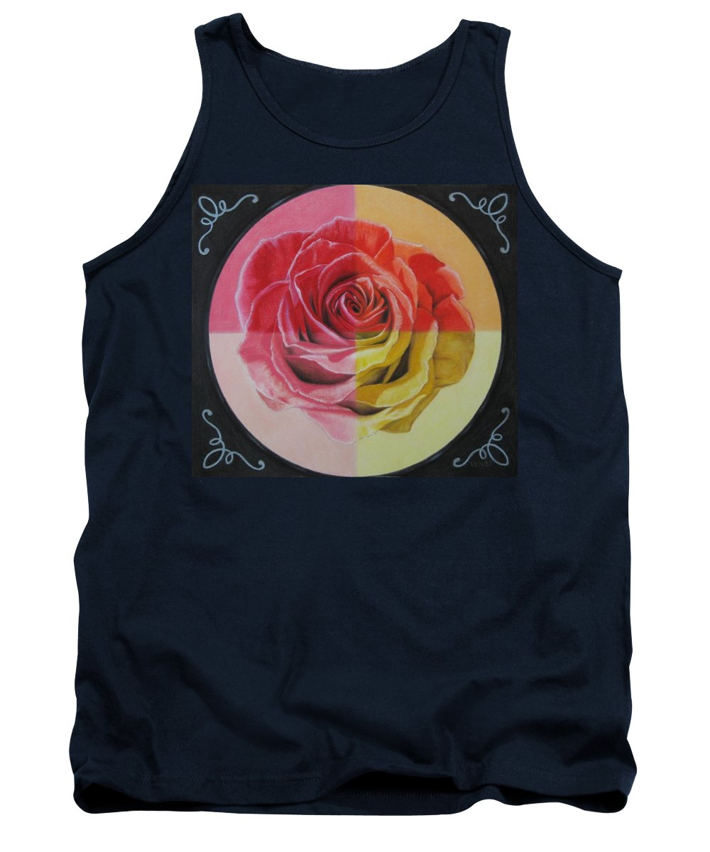 Rose Tank Top featuring the painting My Rose by Lynet McDonald