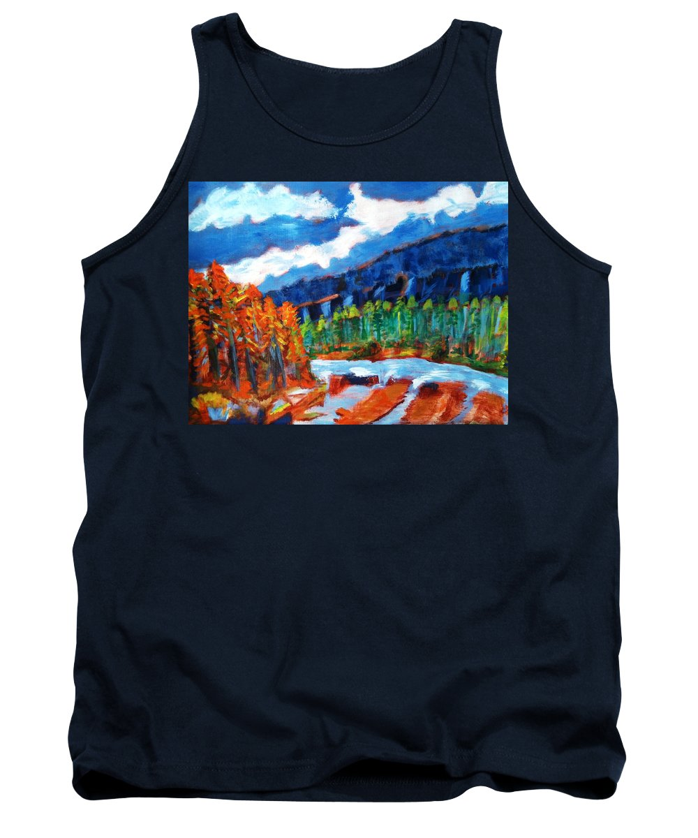 Mountains Tank Top featuring the painting Naturals by R B