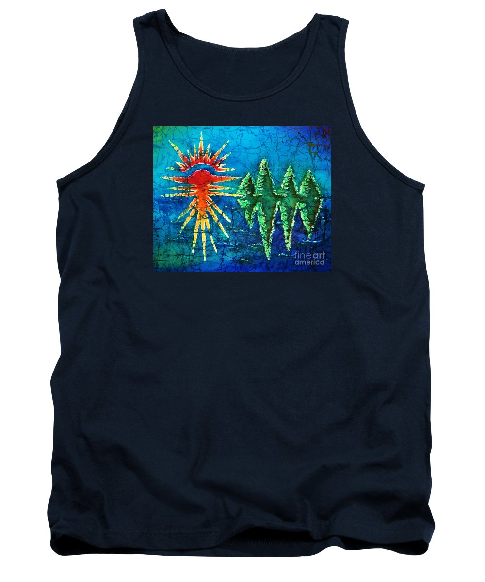 Trees Tank Top featuring the painting Nature by Sue Duda