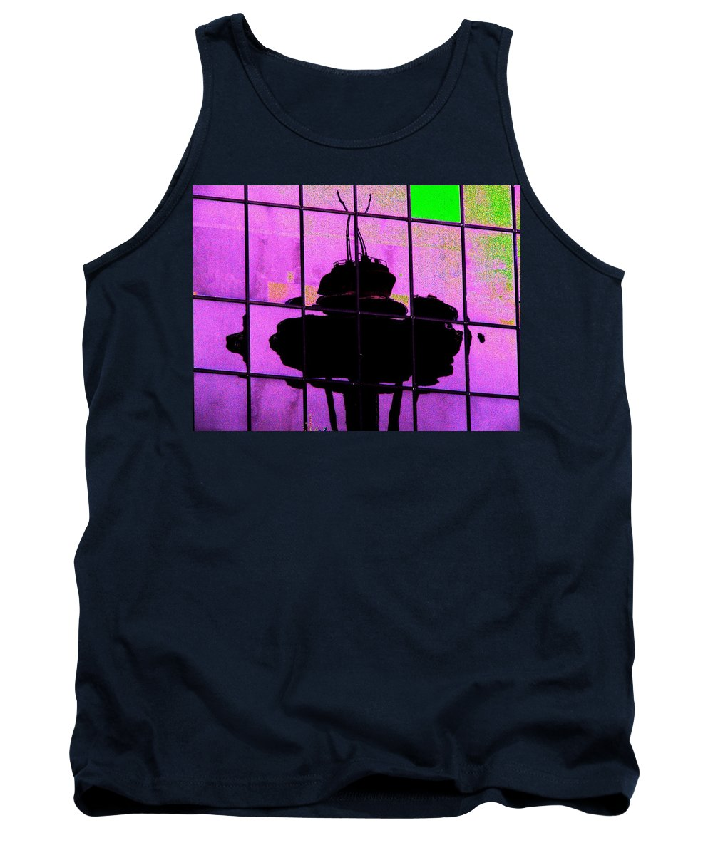 Seattle Tank Top featuring the digital art Needle Reflect 2 by Tim Allen