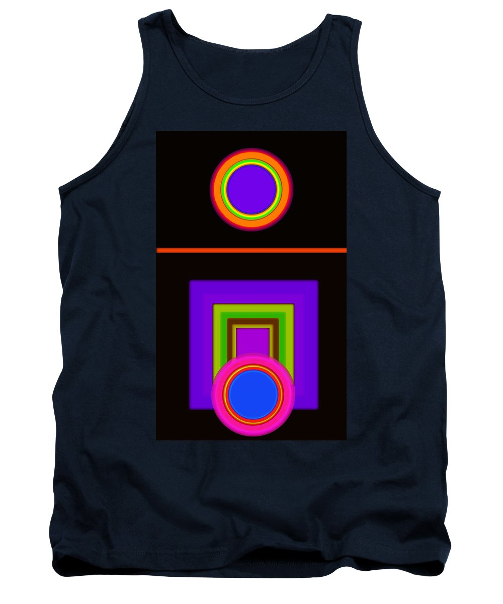 Classical Tank Top featuring the digital art New Black Classic by Charles Stuart