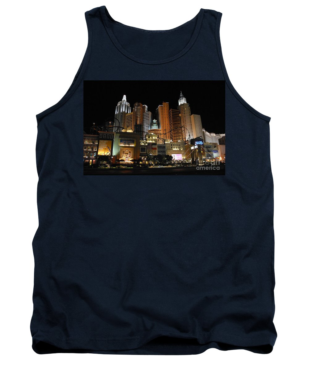 New York Tank Top featuring the photograph New York Las Vegas by David Lee Thompson