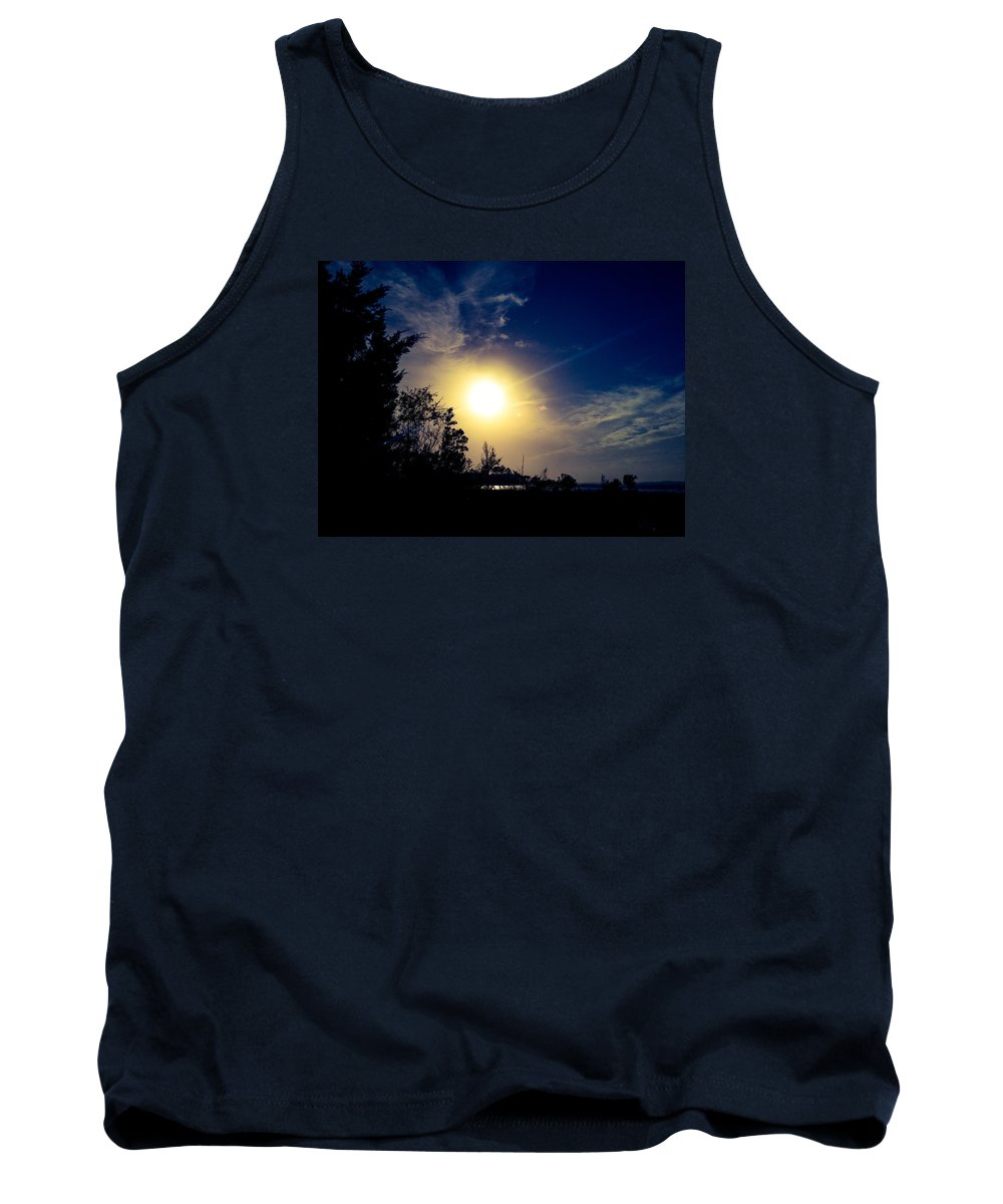 Night Tank Top featuring the photograph Night Blue Sky Delight.. by Lewis Gilbert