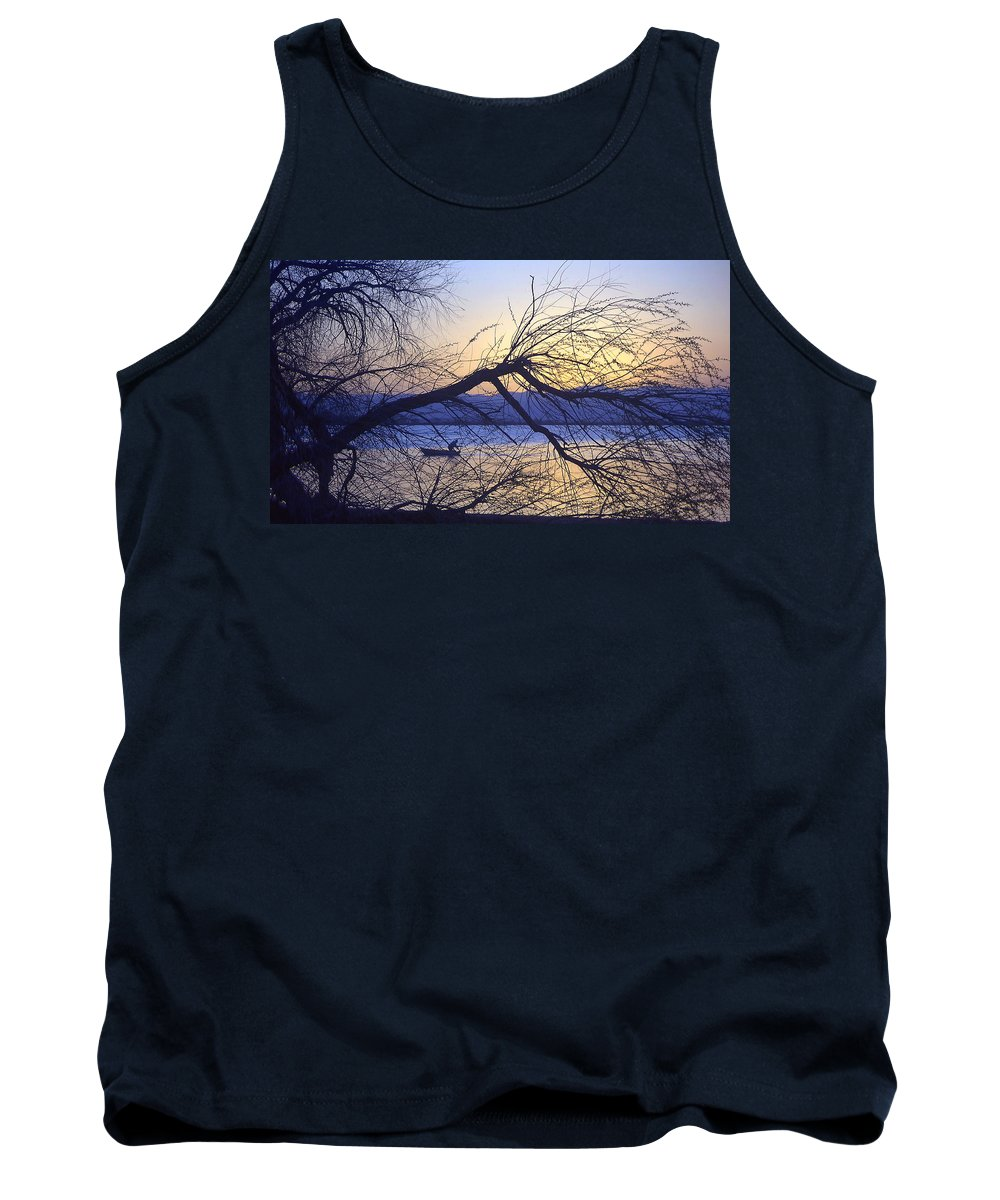 Barr Lake Tank Top featuring the photograph Night Fishing In Barr Lake Colorado by Merja Waters