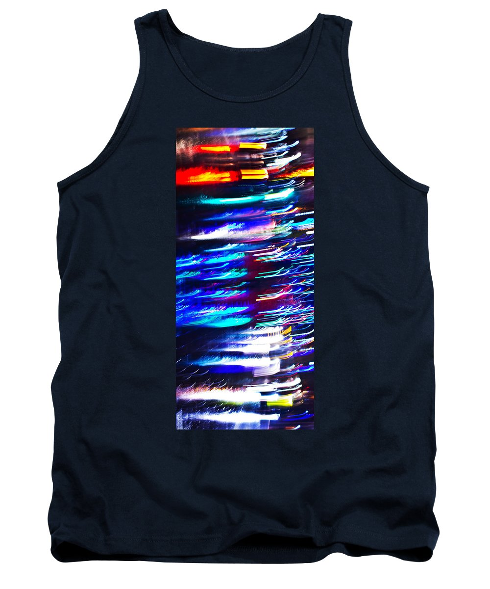 Abstract Tank Top featuring the photograph Night Ghosts by Alex Art and Photo
