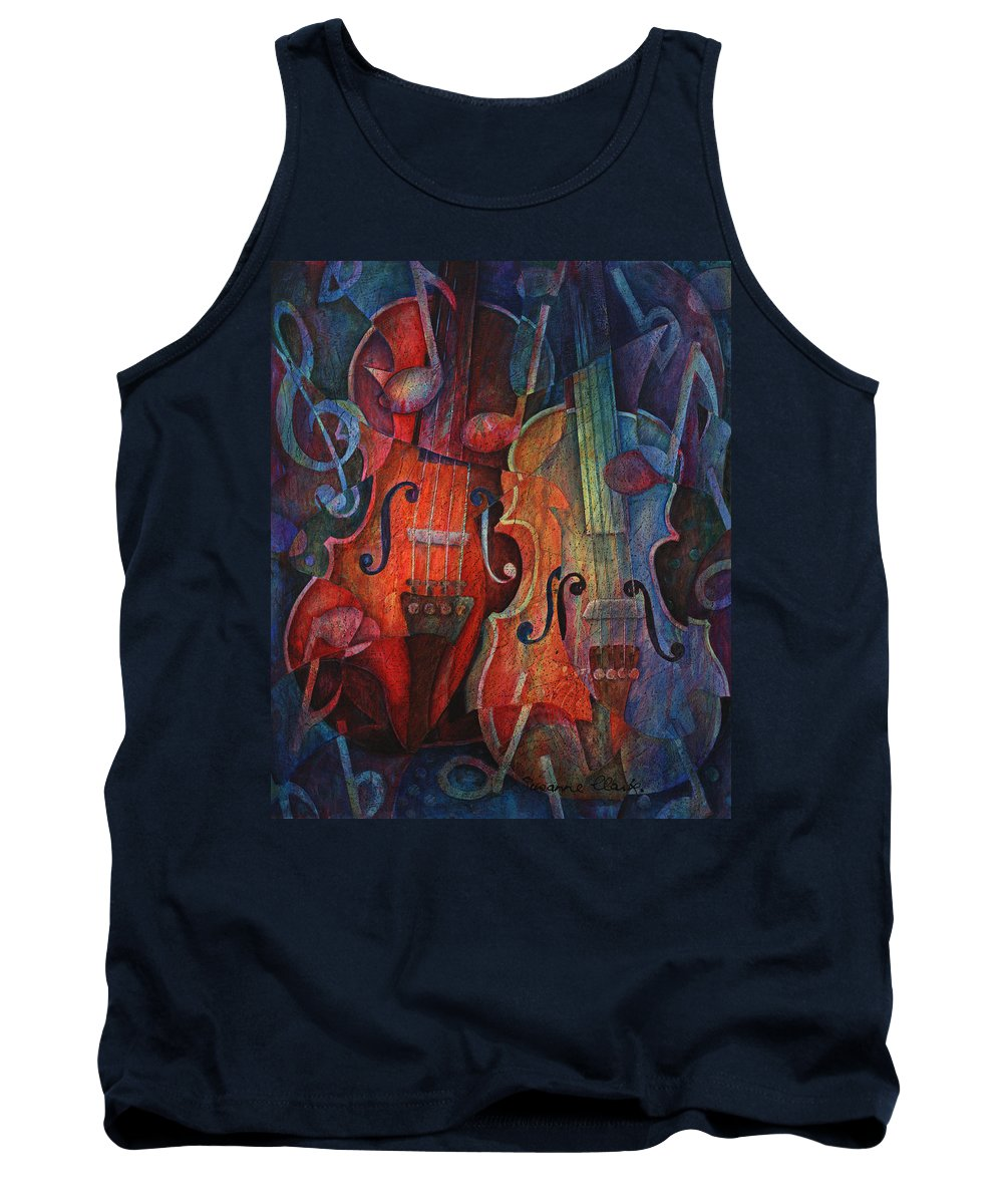 Susanne Clark Tank Top featuring the painting Noteworthy - A Viola Duo by Susanne Clark