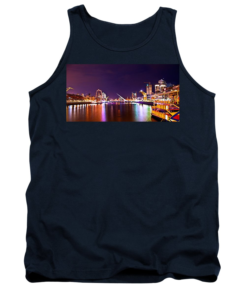 Buenos Tank Top featuring the photograph Nothing But Lights by Francisco Colon