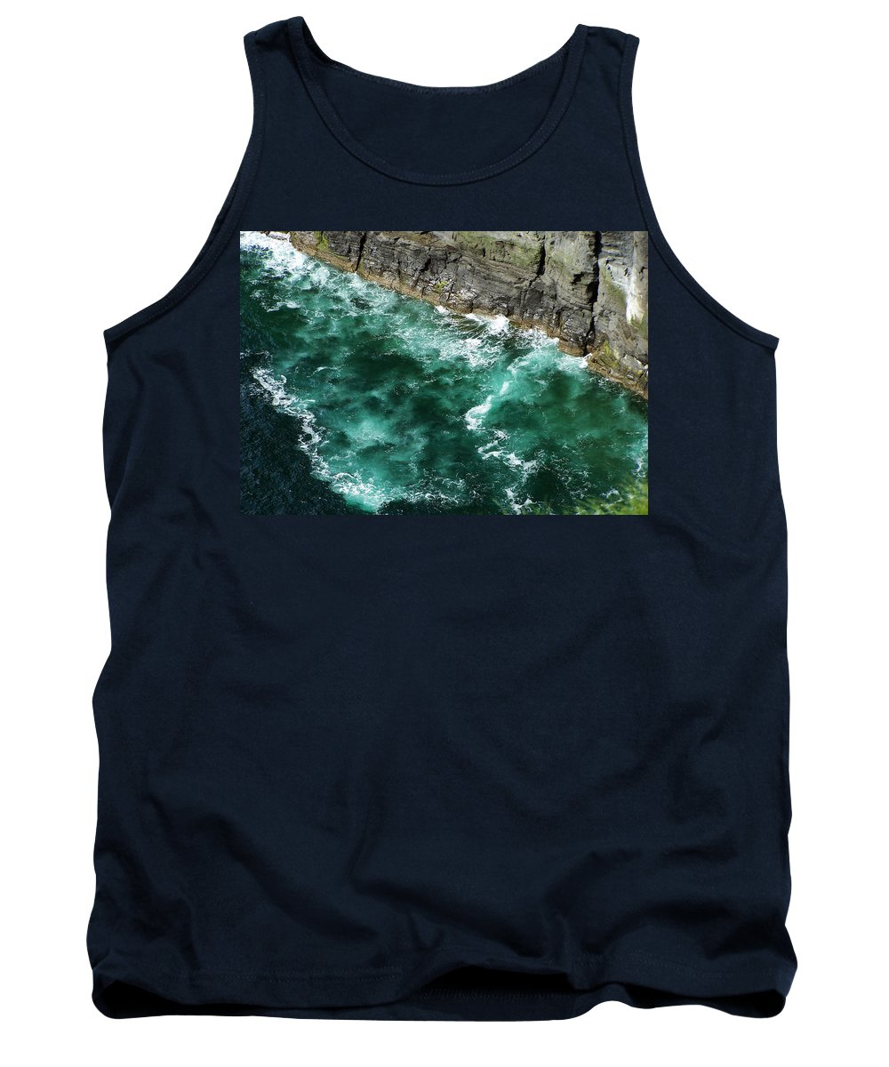 Irish Tank Top featuring the photograph Nowhere To Go Cliffs Of Moher Ireland by Teresa Mucha