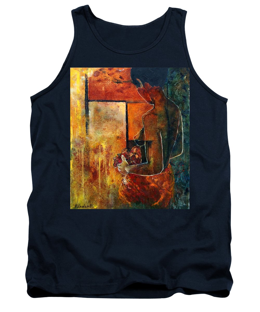 Woman Girl Fashion Nude Tank Top featuring the painting Nude by Pol Ledent