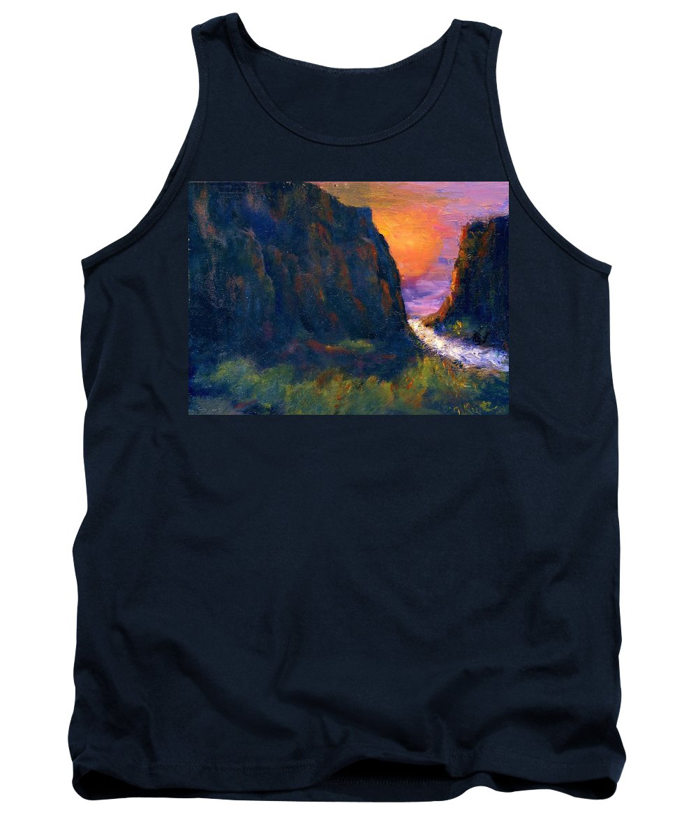 Impressionistic Tank Top featuring the painting Oak Creek Canyon by Gail Kirtz