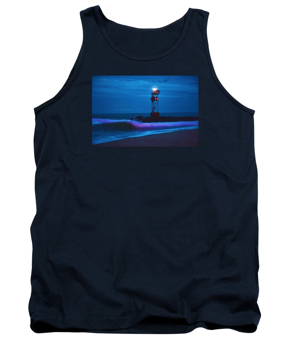 Ocean Tank Top featuring the photograph Ocean City Dawn Surf Painted by Don Keisling