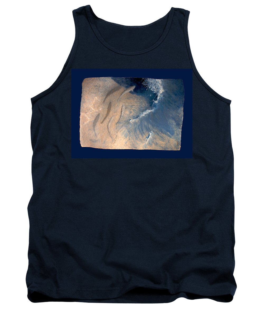 Seascape Tank Top featuring the painting Ocean by Steve Karol