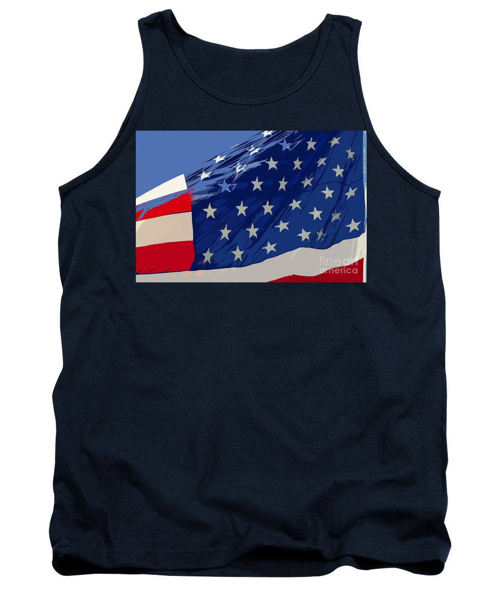 Old Glory Tank Top featuring the painting Old Glory by David Lee Thompson