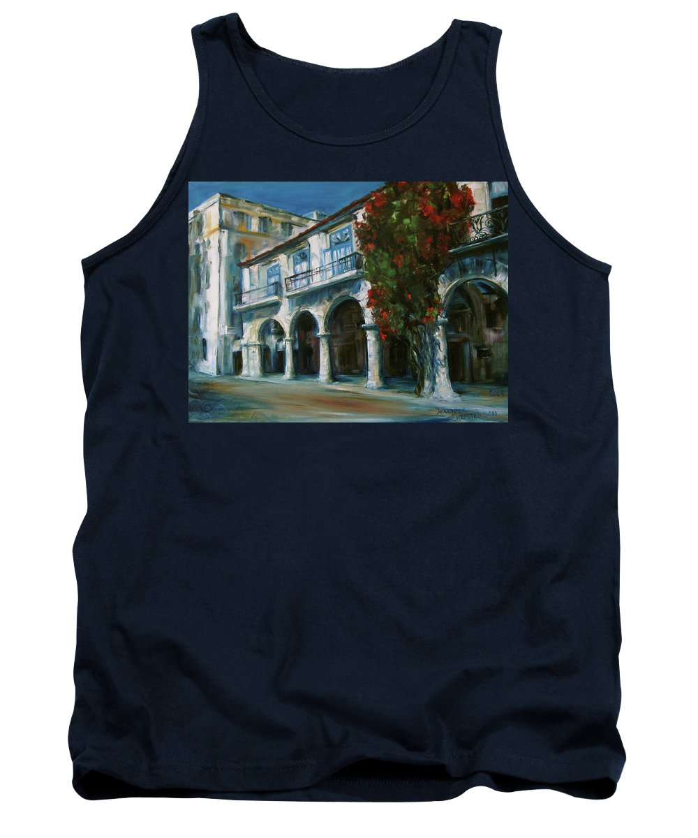 Old Havana Tank Top featuring the painting Old Havana by Jennifer Christenson