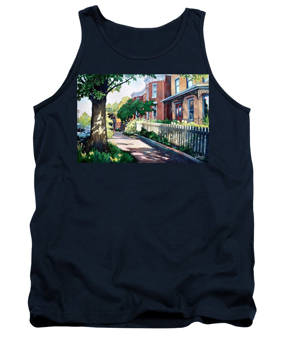 Landscape Tank Top featuring the painting Old Iron Porch by Mick Williams