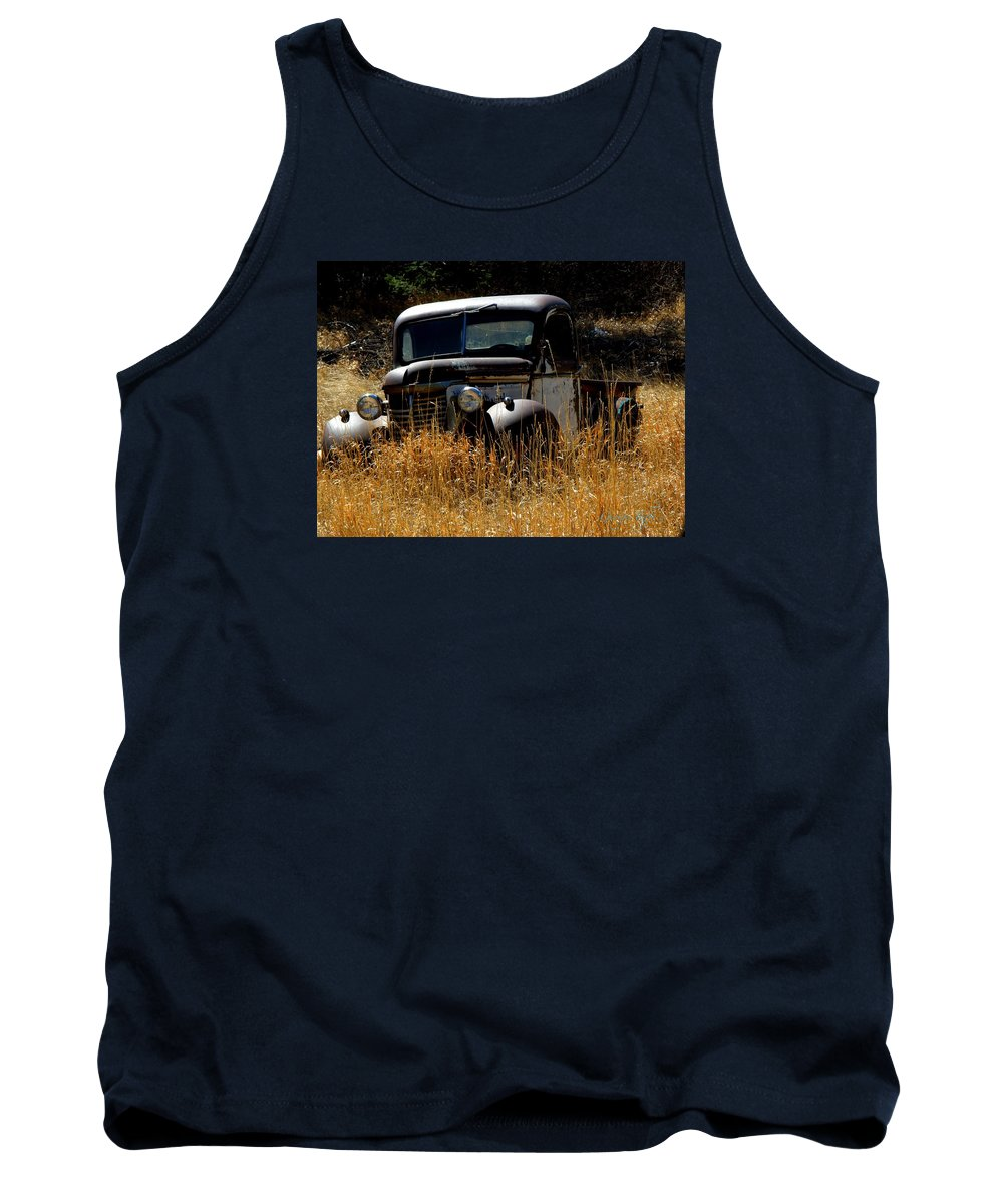 Old Pickup Truck Tank Top featuring the photograph Old Pickup Truck by George Tuffy