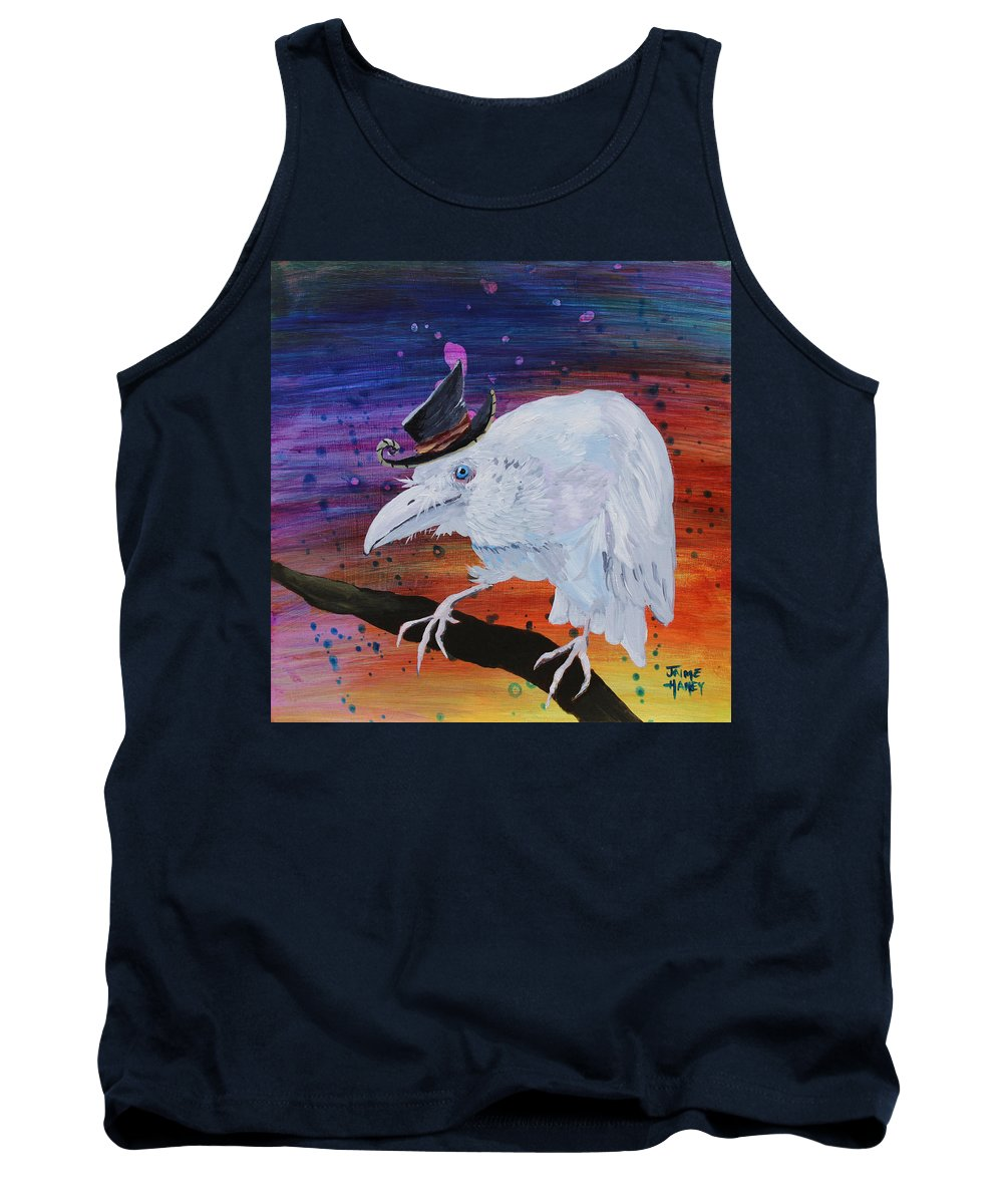 Old Raven Tank Top featuring the painting Old Timer by Jaime Haney