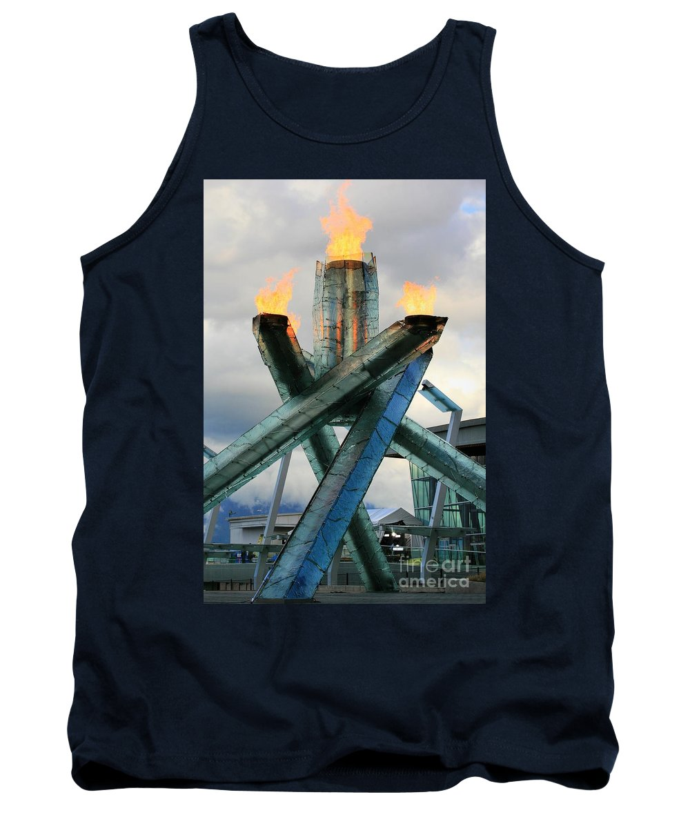 Olympics Tank Top featuring the photograph Olympic Flame by Chris Dutton