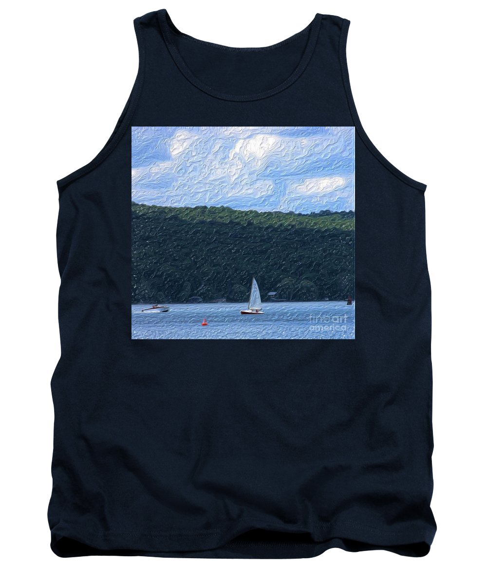 Landscape Tank Top featuring the photograph On Cayuga Lake by David Lane