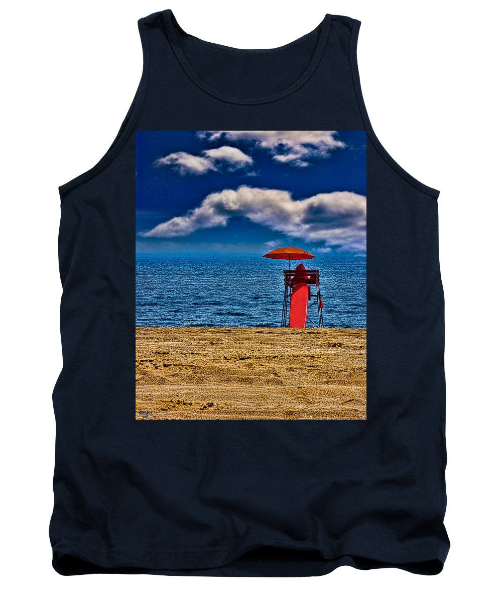 Beach Tank Top featuring the photograph On The Beach At Coney Island by Chris Lord