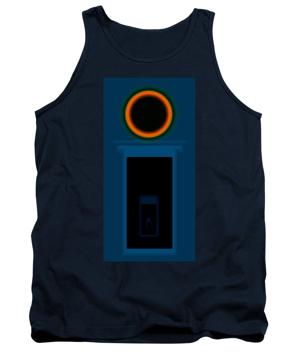 Palladian Tank Top featuring the painting Orange On Pale Blue by Charles Stuart