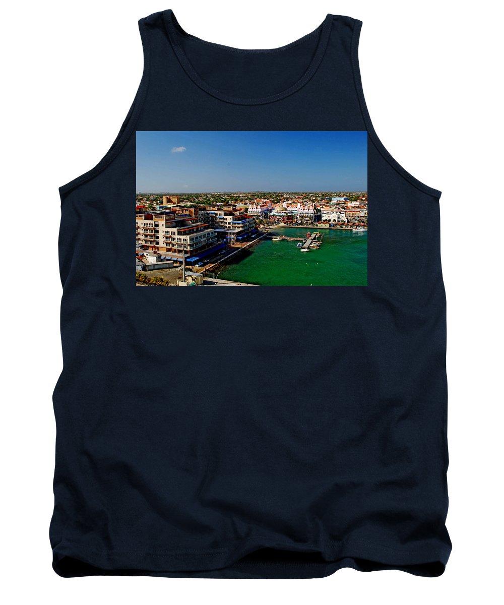 Aruba Tank Top featuring the photograph Oranjestad Aruba by Gary Wonning