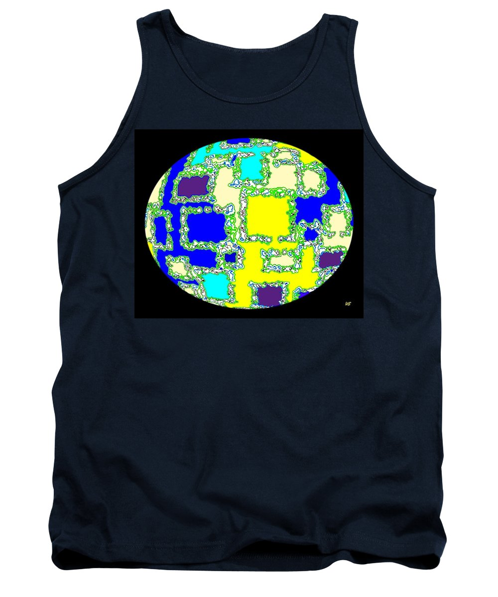 Abstract Tank Top featuring the digital art Ostrich Egg by Will Borden