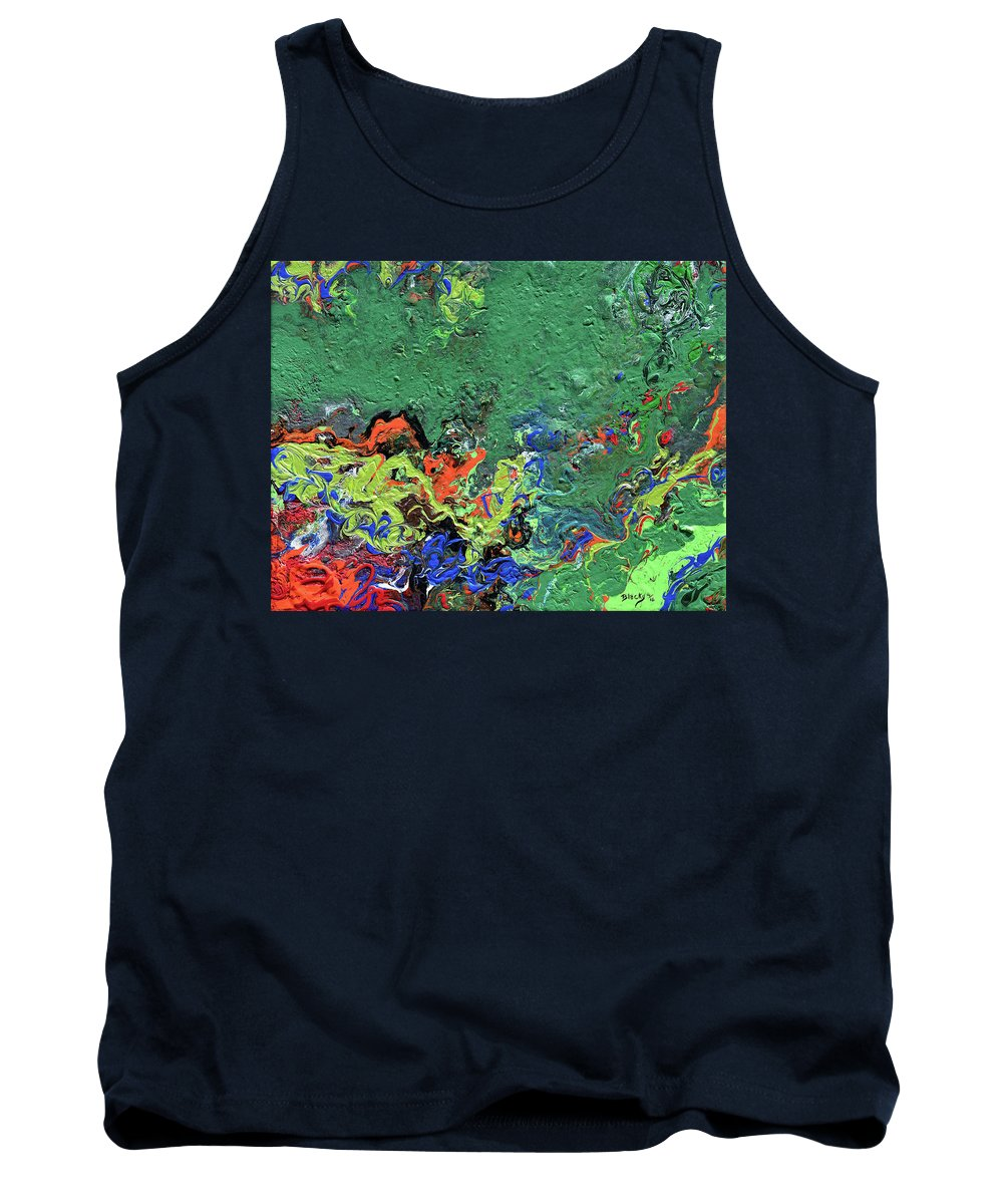 Modern Tank Top featuring the painting Our Green Planet by Donna Blackhall
