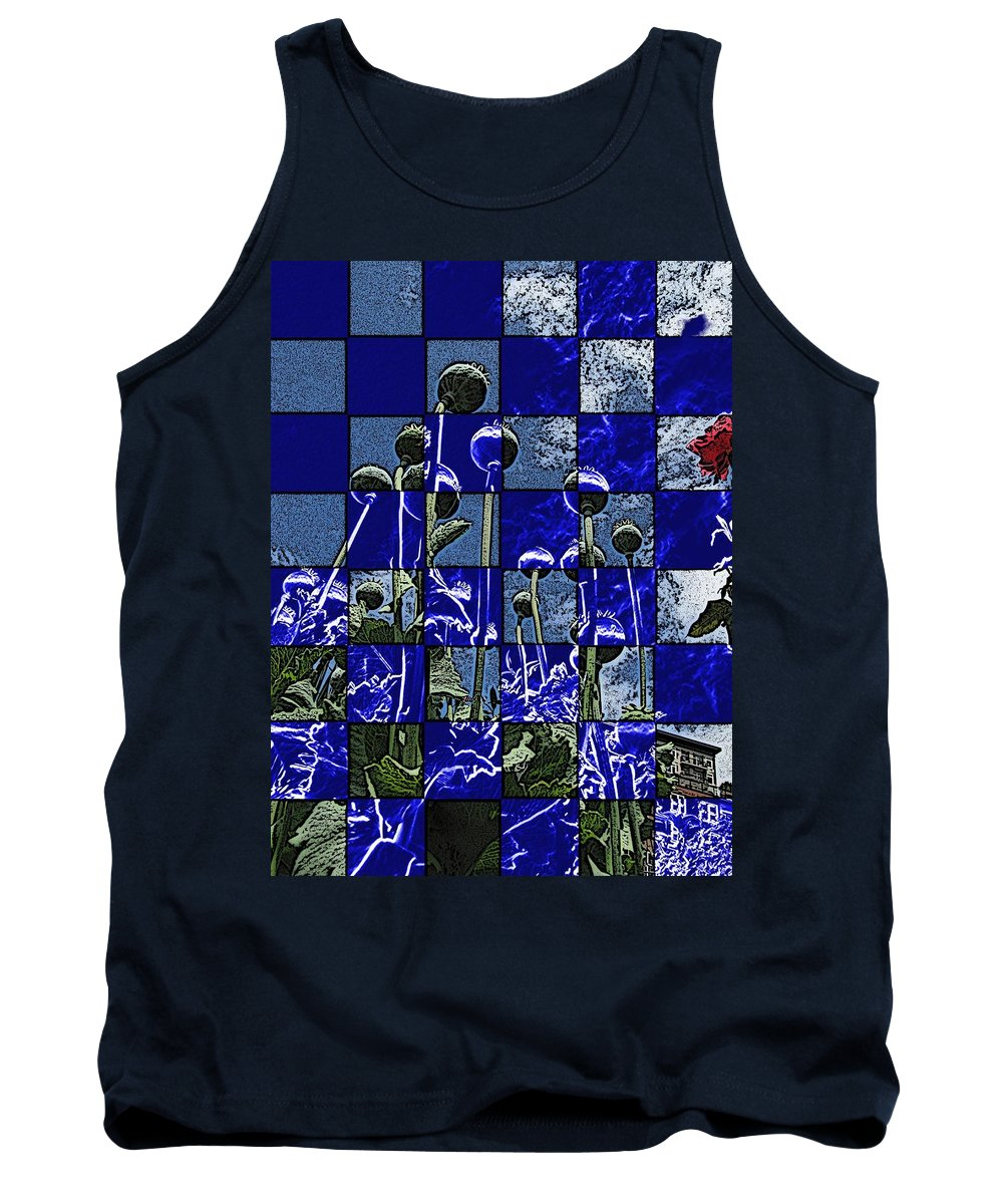 Poppies Tank Top featuring the digital art P Patch Poppies by Tim Allen