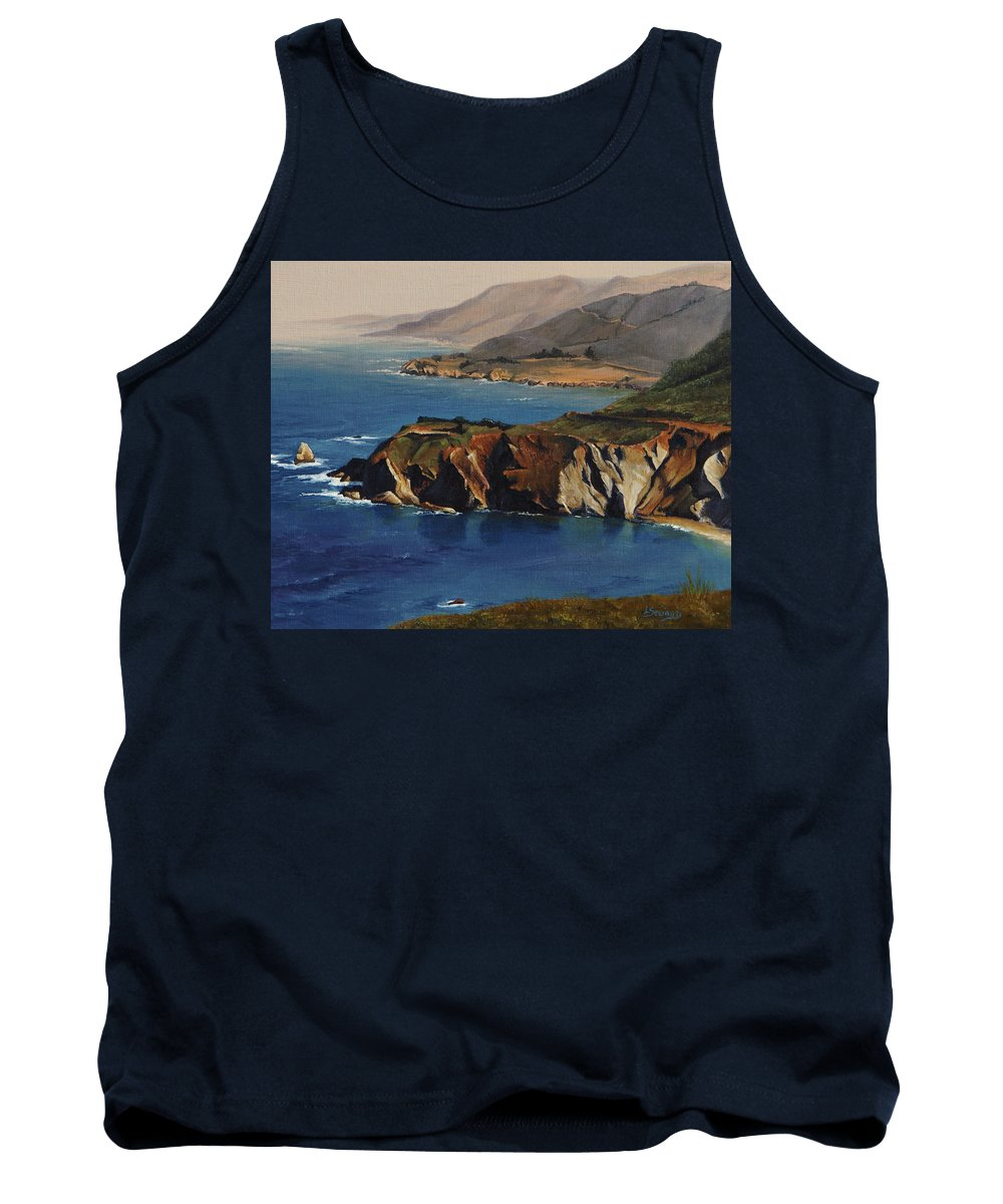 Pacific Coast Tank Top featuring the painting Pacific Coast by Lori Seward