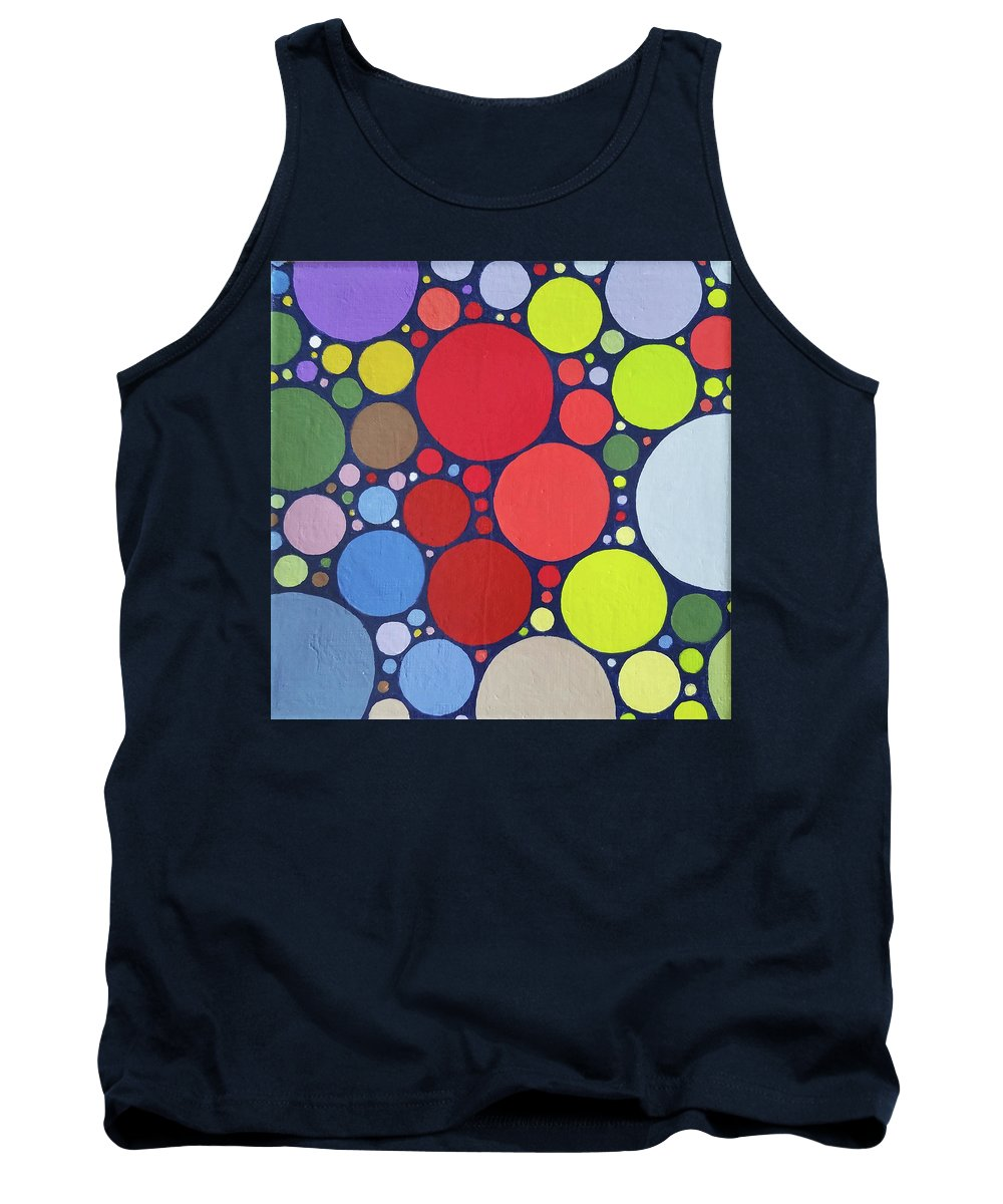 Abstract Tank Top featuring the painting Palette Bananier 4 by Muriel Dolemieux