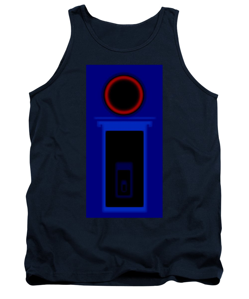Palladian Tank Top featuring the painting Palladian Red And Blue by Charles Stuart