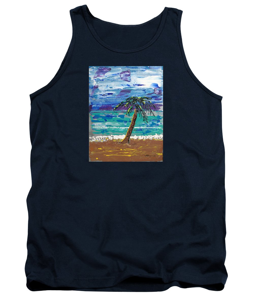 Palm Tree Tank Top featuring the painting Palm Beach by J R Seymour