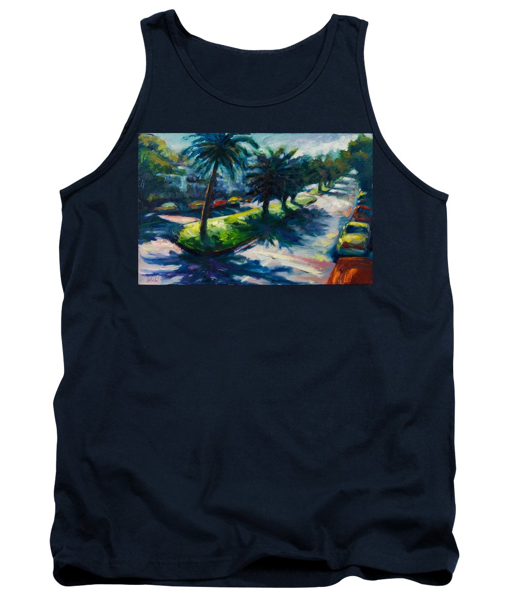Cityscape Tank Top featuring the painting Palm Trees by Rick Nederlof