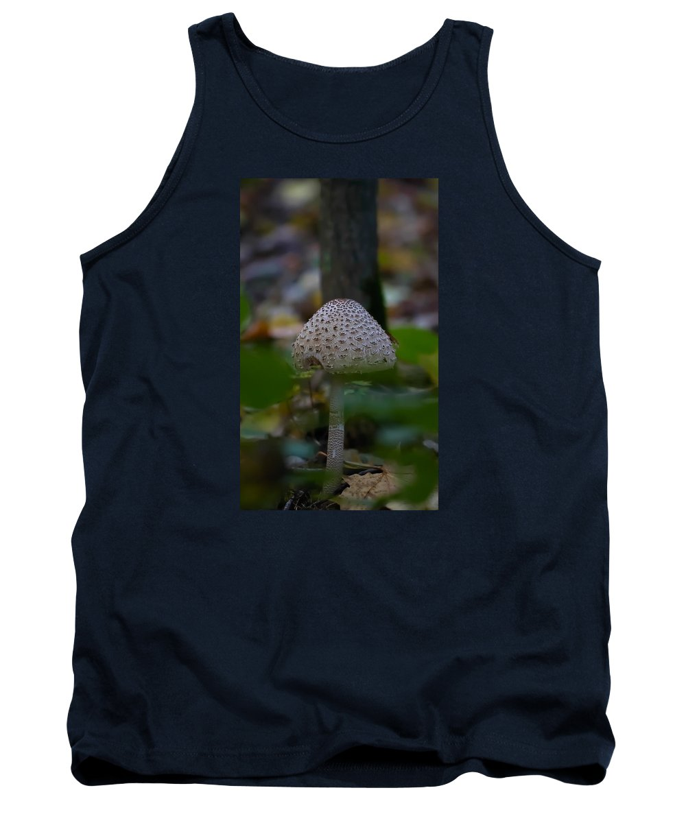 Parasol Mushroom Tank Top featuring the photograph Parasol Mushroom 3 by Leif Sohlman