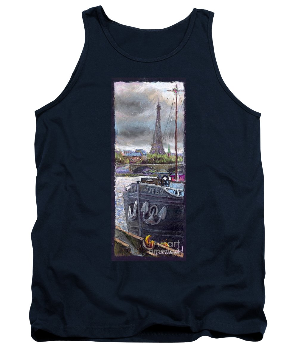 Pastel Tank Top featuring the painting Paris Pont Alexandre IIi by Yuriy Shevchuk