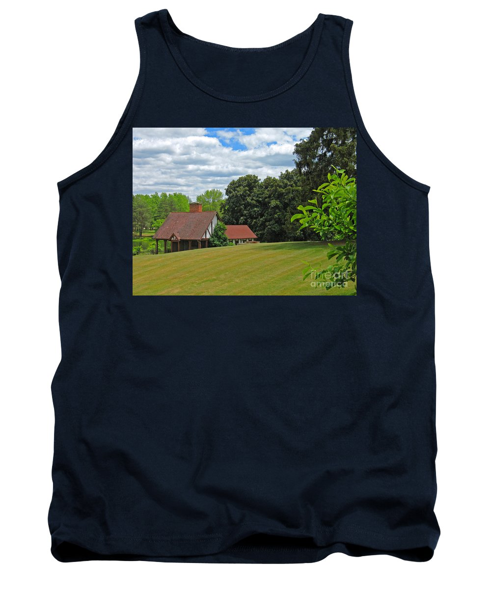 Landscape Tank Top featuring the photograph Parkland Cottage by Ann Horn