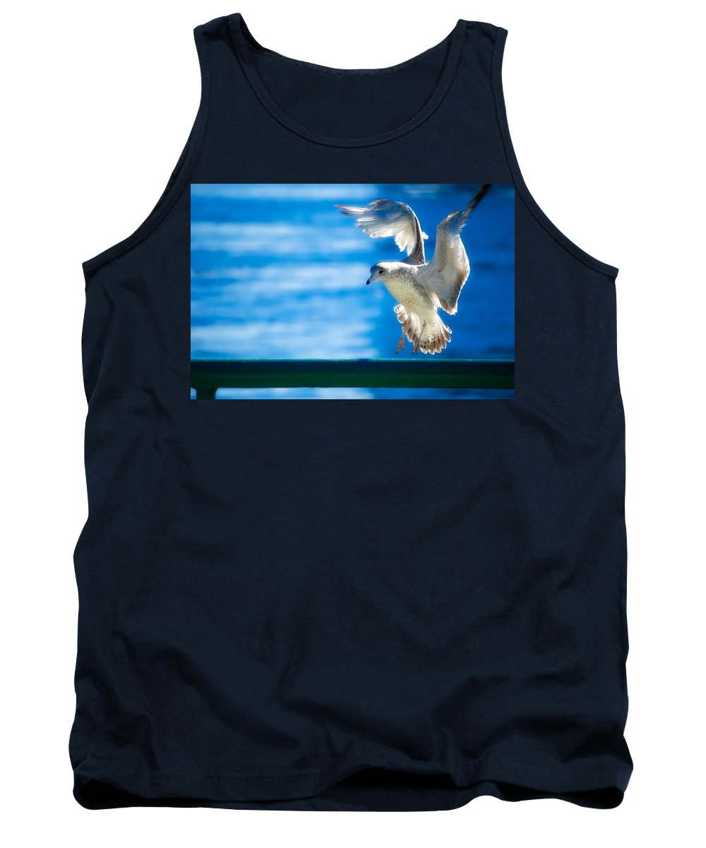 Animal Tank Top featuring the photograph Peace Gull by Rich Leighton