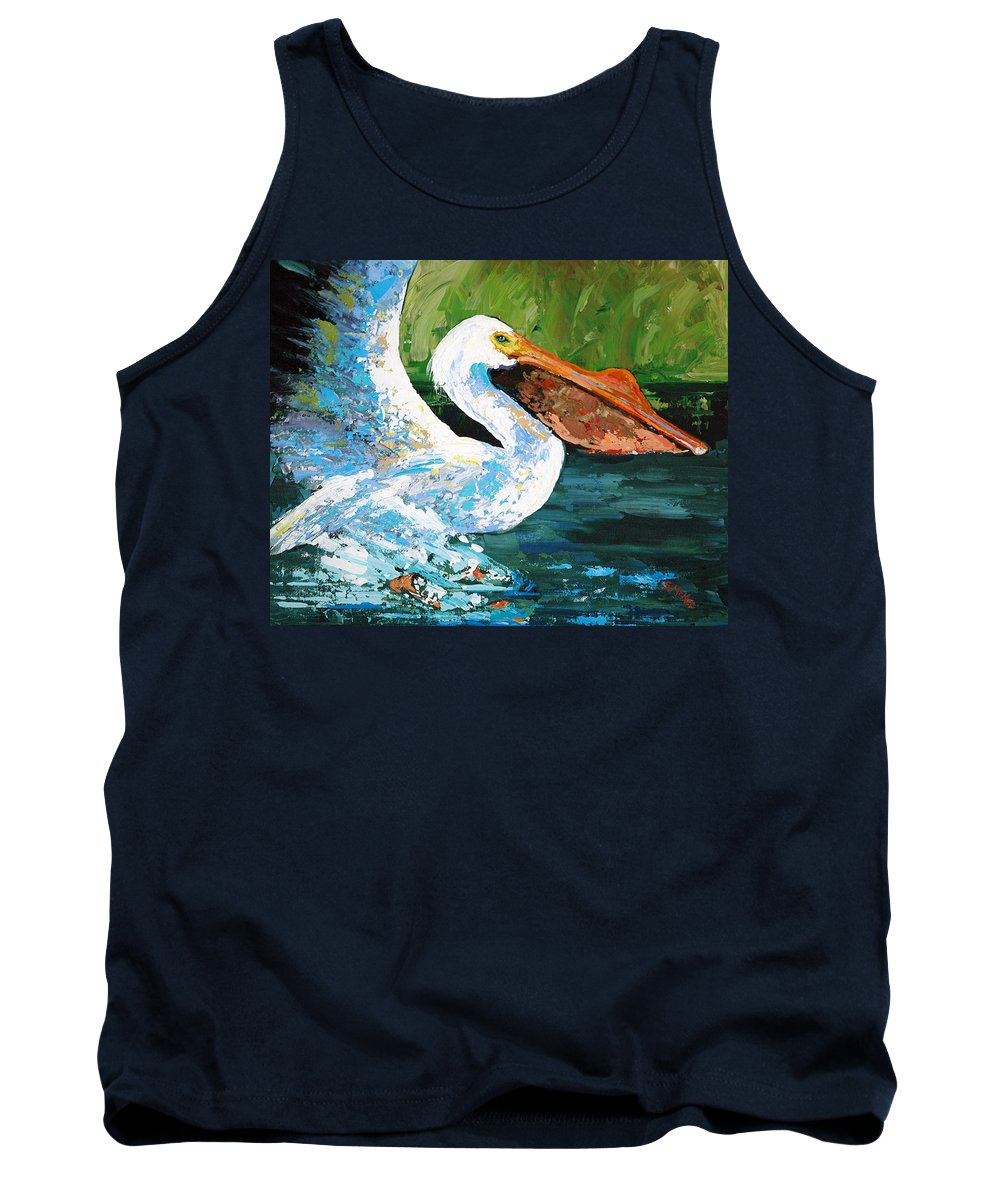 Acrylic Tank Top featuring the painting Pete Coming In For A Landing by Suzanne McKee
