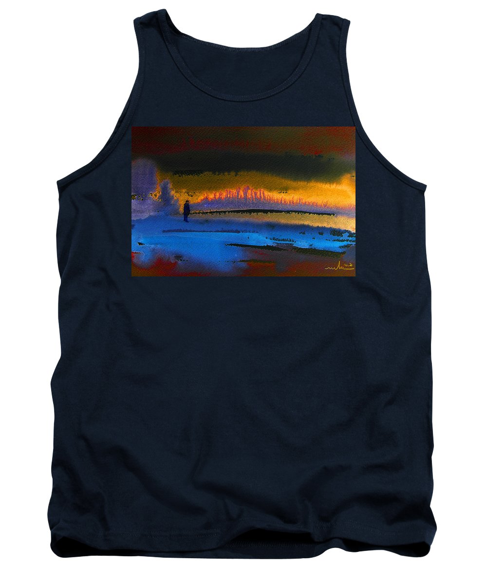 Watercolour Tank Top featuring the painting Phantasm Fire by Miki De Goodaboom
