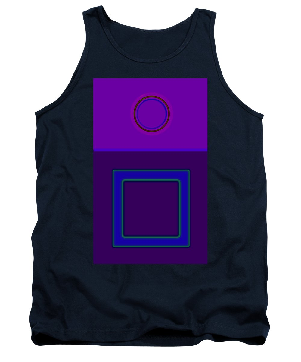 Classical Tank Top featuring the digital art Piazza Purple by Charles Stuart