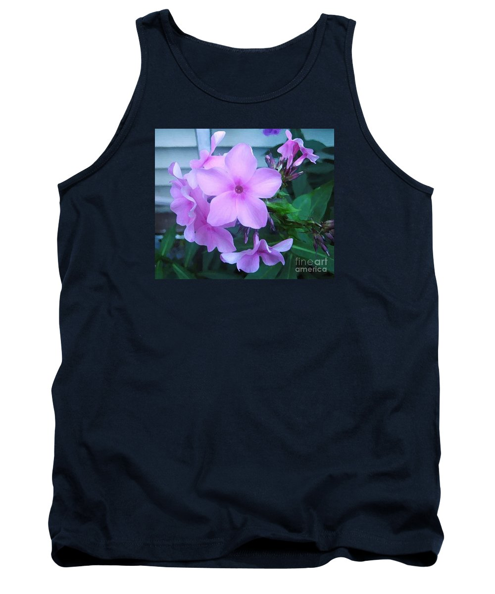 Pink Flowers Artwork Tank Top featuring the photograph Pink Flowers In The Garden by Reb Frost