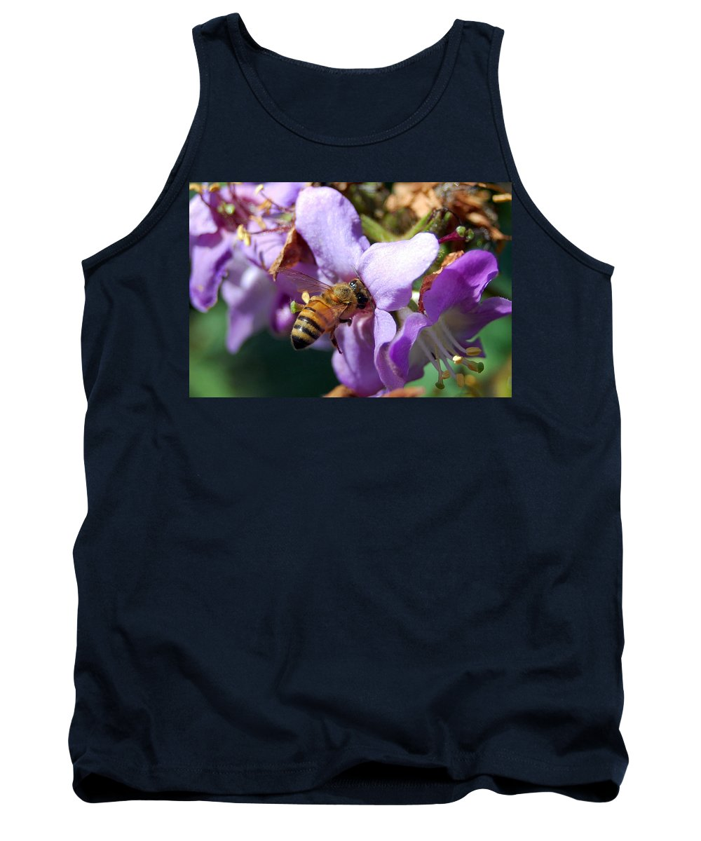 Flower Tank Top featuring the photograph Pollinating 2 by Amy Fose