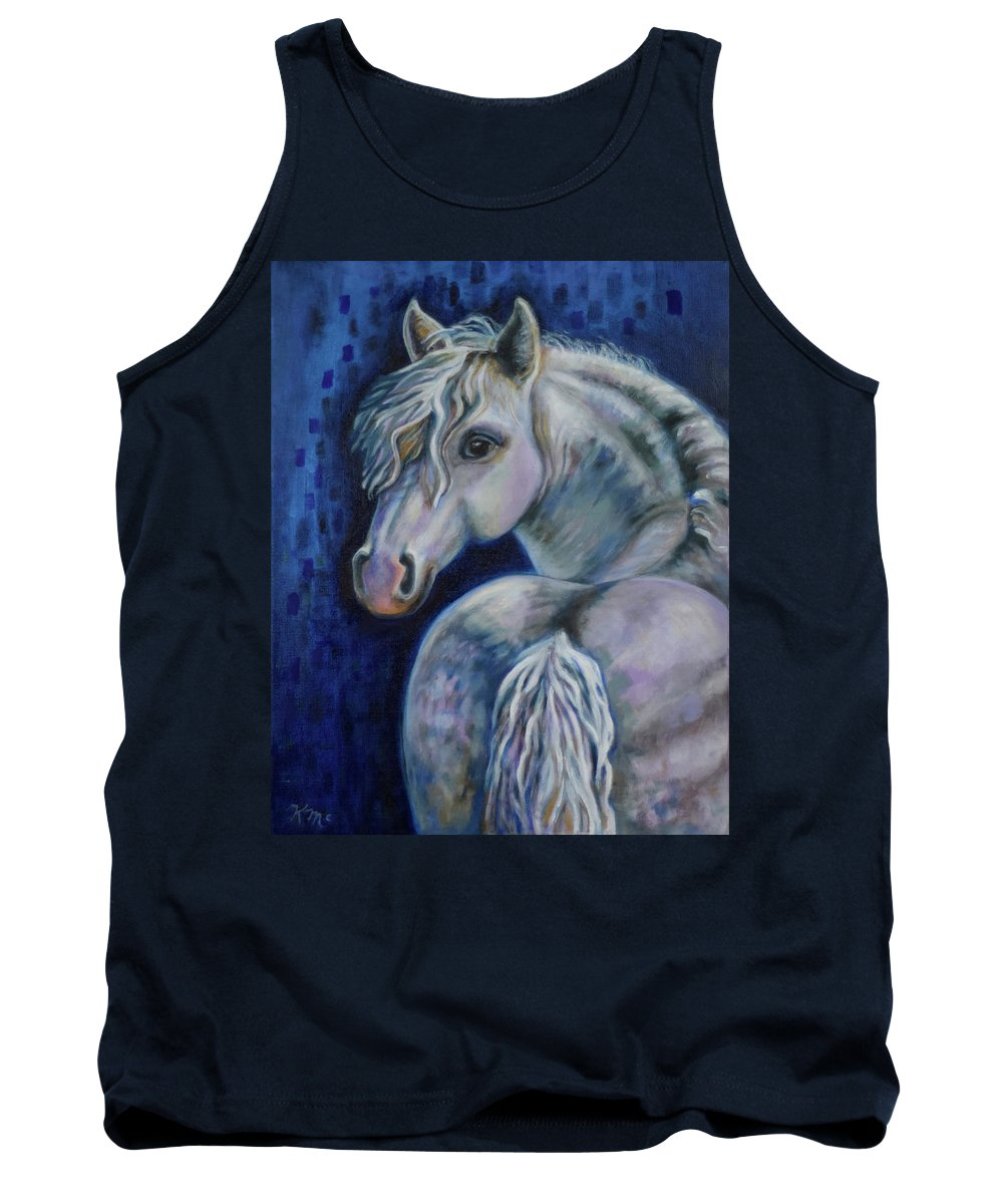 Pony Tank Top featuring the painting Pony Time by Karen Nell McKean