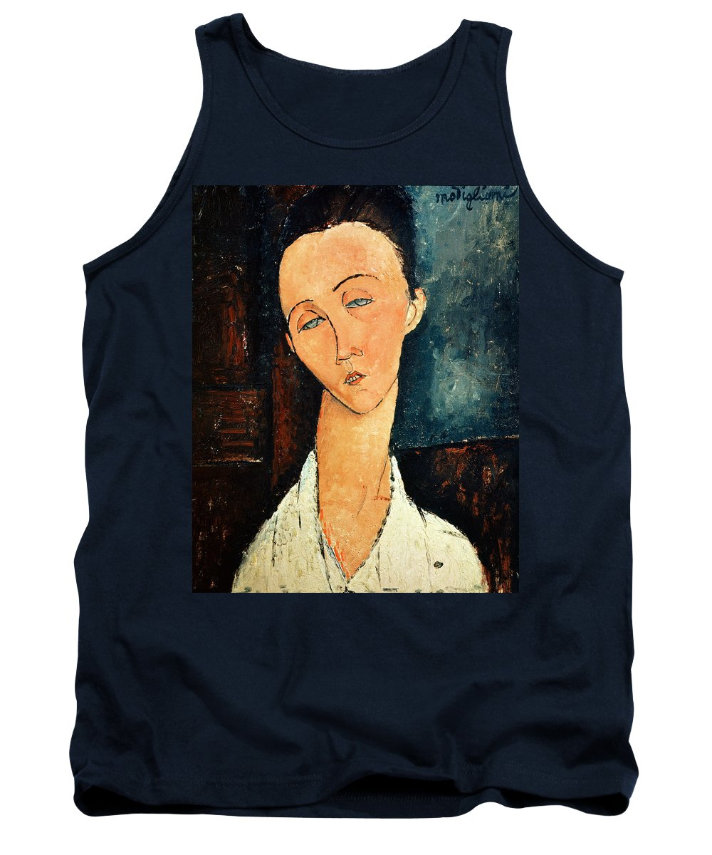 Portrait Tank Top featuring the painting Portrait Of Lunia Czechowska by Amedeo Modigliani