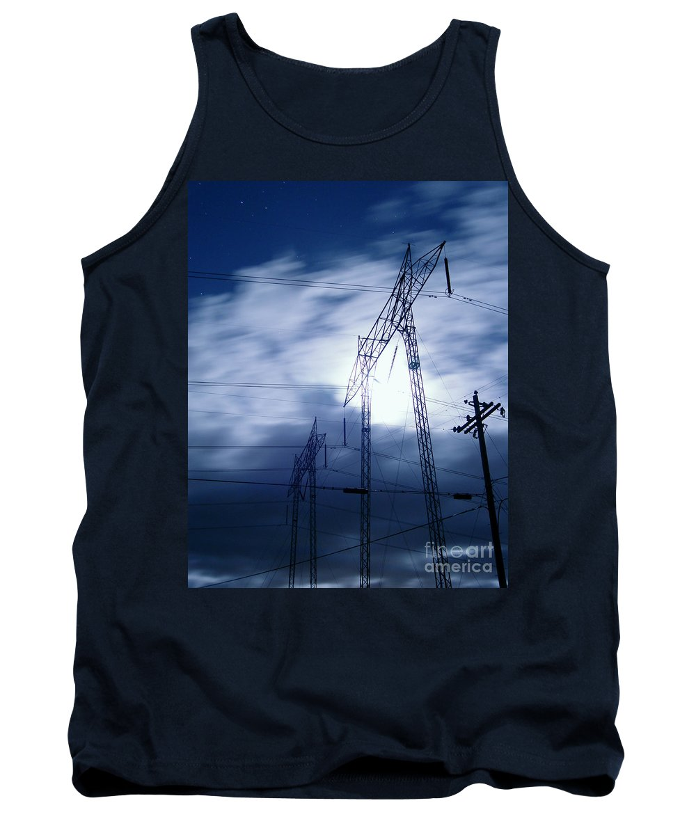 Clouds Tank Top featuring the photograph Power Surge by Peter Piatt