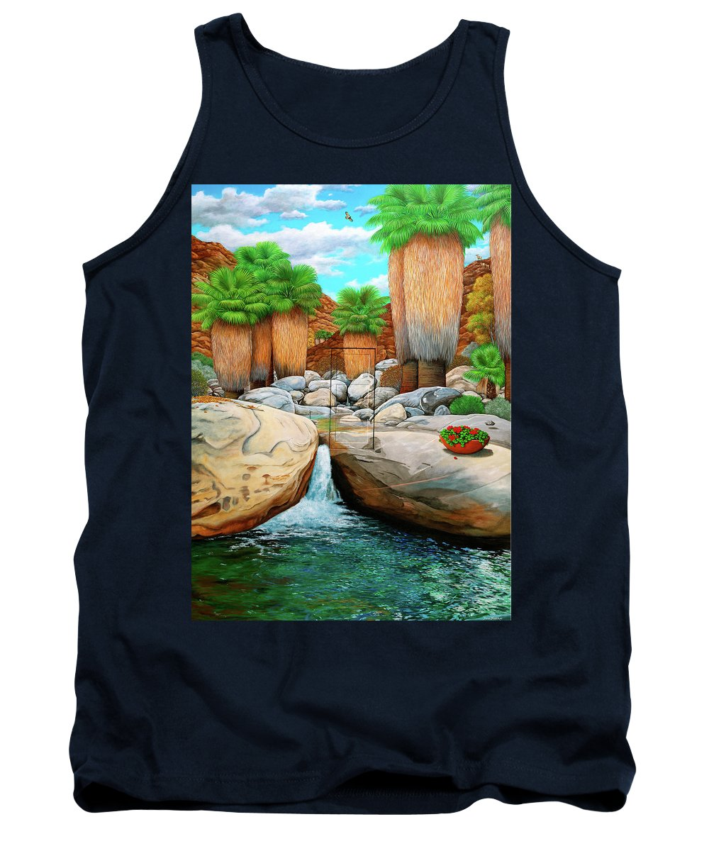 Landscape Tank Top featuring the painting Primary Escape Route by Snake Jagger