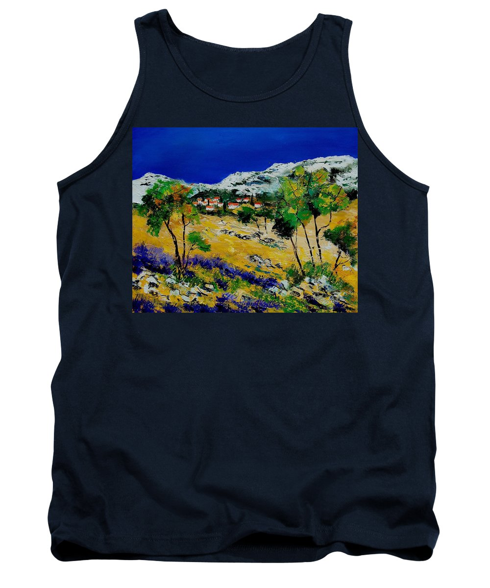 Provence Tank Top featuring the painting Provence 569060 by Pol Ledent