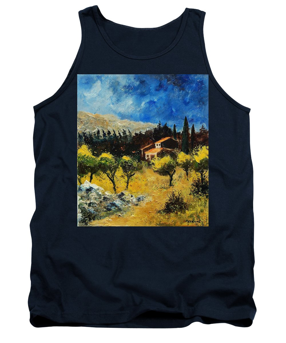 Provence Tank Top featuring the painting Provence 678965 by Pol Ledent