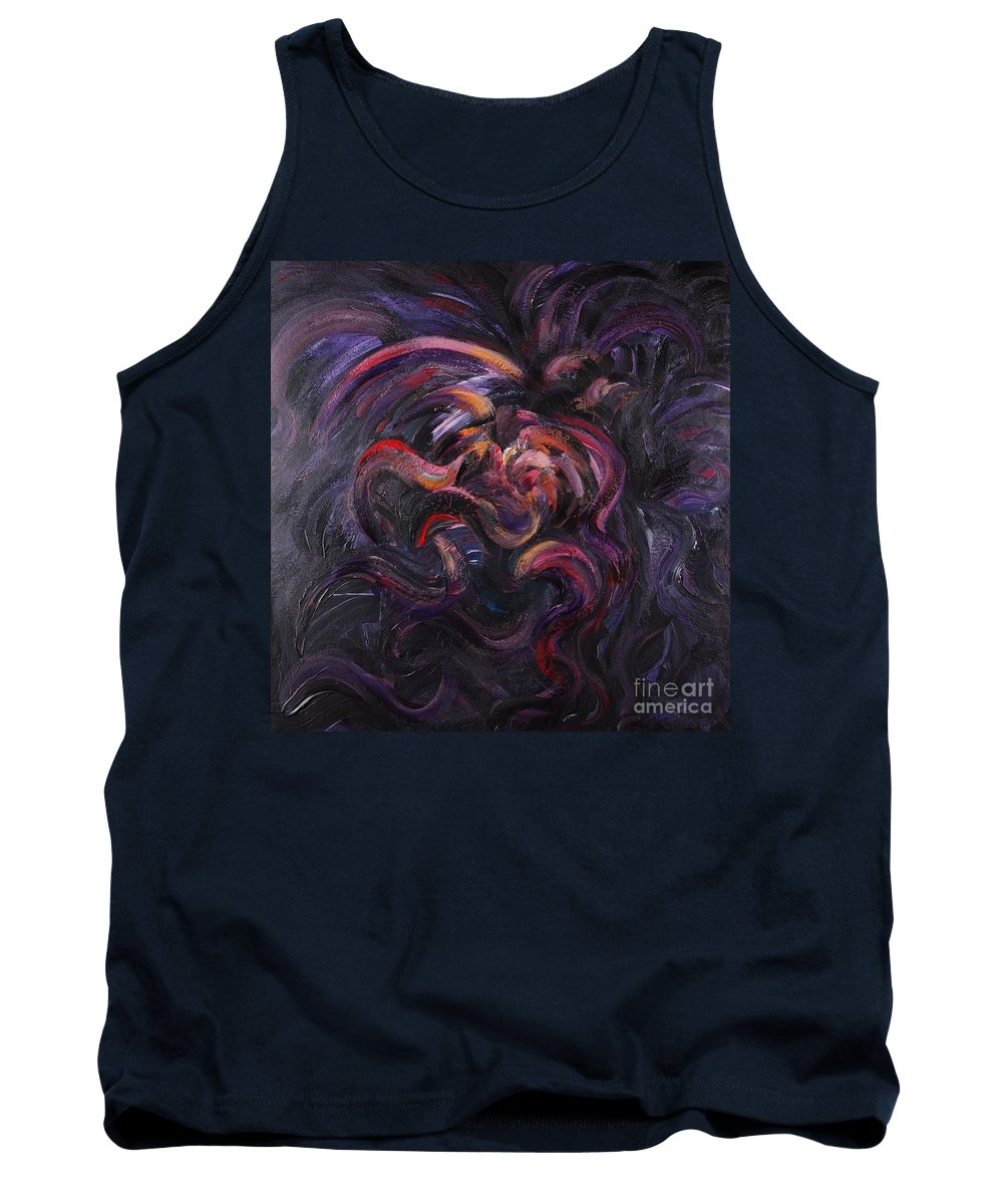 Purple Tank Top featuring the painting Purple Passion by Nadine Rippelmeyer
